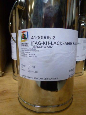 Schwerter Lackfabrik IFAG KH Lackfarbe Ral 9005 Tiefschwarz 4100905-2 – Bild 1