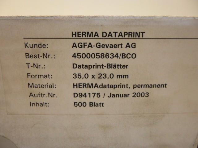 500 Herma Dataprint Blätter 35,0 x 23,0 mm