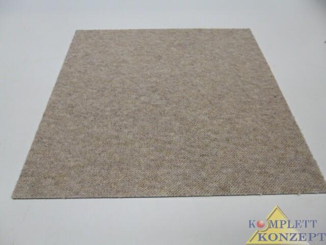 (11,50/m²) Tunis SL Beige 710 Teppichfliese Teppich 50x50cm UVP 39€/m² – Bild 1