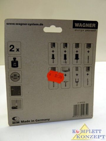 WAGNER design 01 0070 02 Rollen Räder Möbelrollen 30kg 2Stück 60mmØ – Bild 3