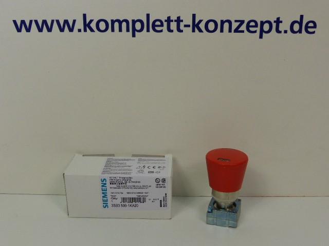 Siemens 3SB3500-1KA20 NOT HALT Pilzdrucktaster Notaus 3SB35