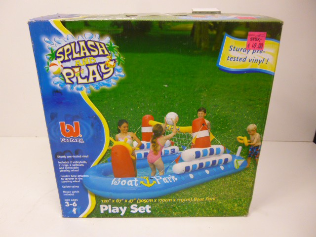 Bestway Splash and Play Boot Planschbecken Aufblasbar Pool Badespaß