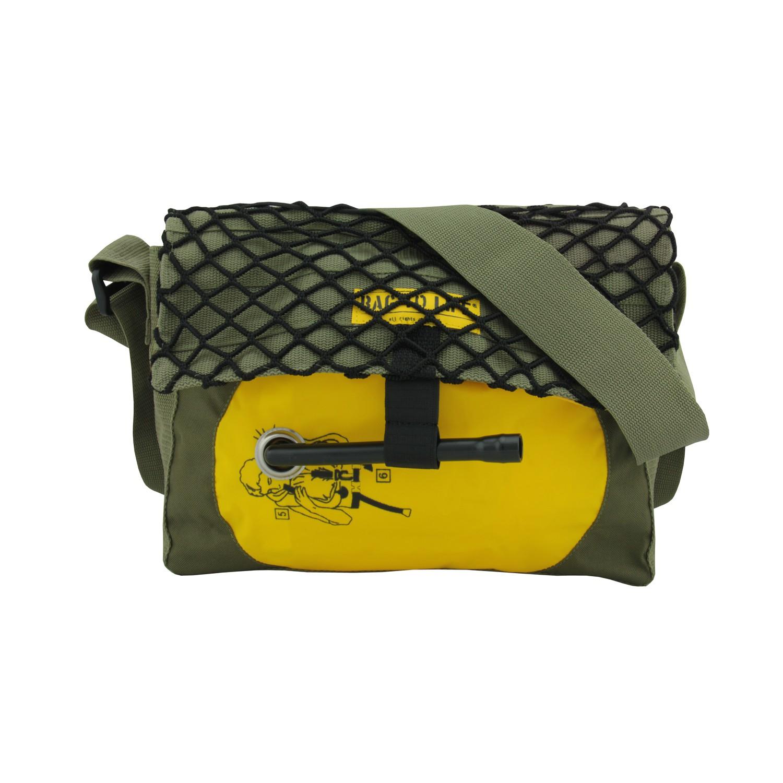 BAG TO LIFE Messenger Bag CO-PILOT Camo Umhängetasche UNIKAT Upcycling aus einer Rettungsweste