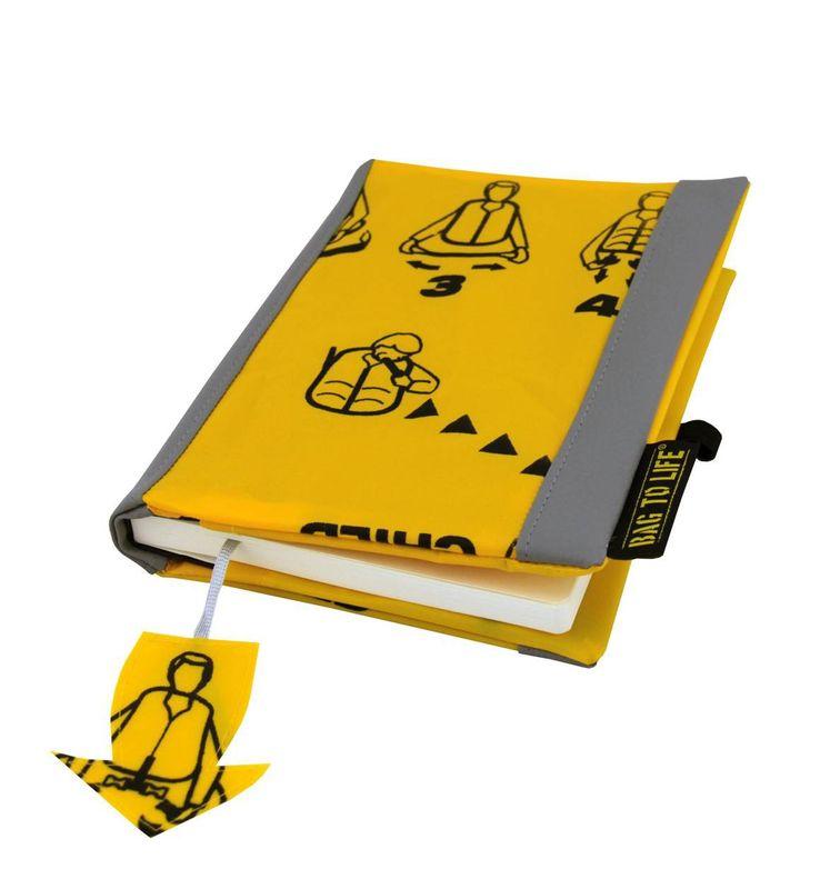 BAG TO LIFE Bravo Jacket with Blank Book Buchhülle Buchumschlag mit Notizbuch UNIKAT aus einer Rettungsweste gefertigt – Bild 3