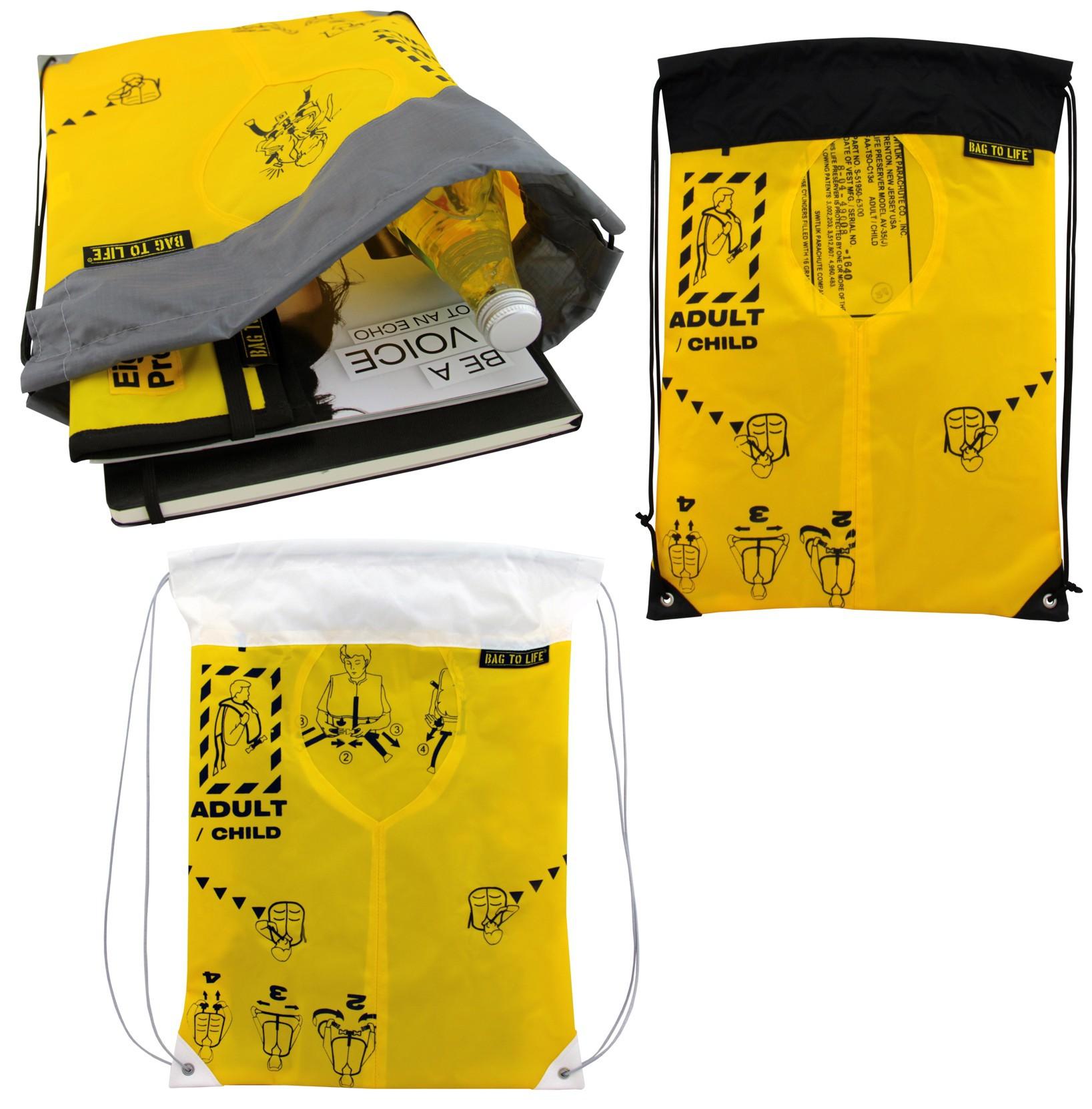 cf2daff190ba1 BAG TO LIFE Sky Gym Bag Turnbeutel Rucksack UNIKAT Upcycling aus einer  Rettungsweste