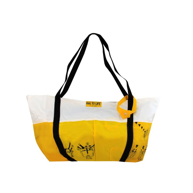 BAG TO LIFE Beach Bag Airlie Strandtasche Shopper UNIKAT Upcycling aus einer Rettungsweste – Bild 4