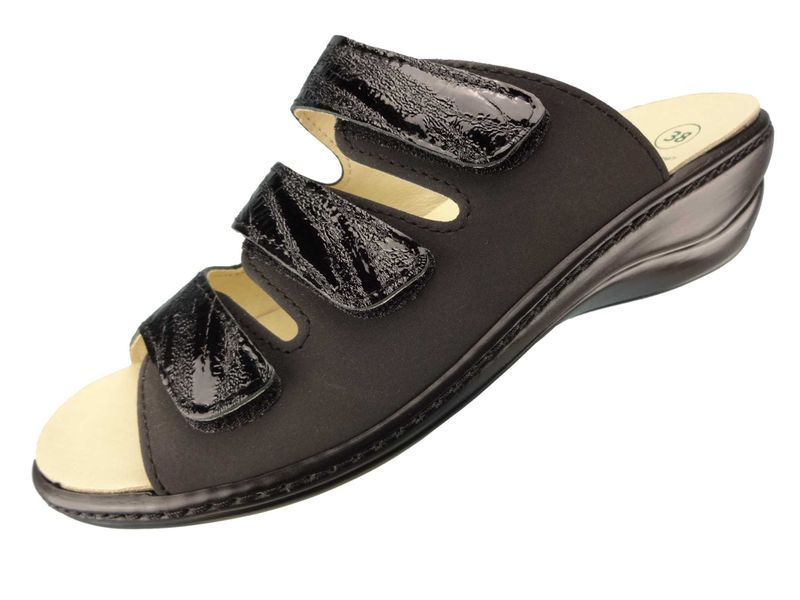 Algemare Damen Pantolette Nubuk Leder Keilpantolette mit Algen-Kork Wechselfußbett Leder Made in Germany 1239_0307 – Bild 1