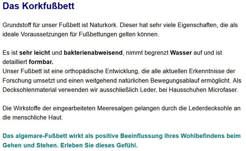 "Algemare Damen Leder Pantolette ""Nubuk Glitter"" Keilpantolette mit Algen-Kork Wechselfußbett Made in Germany 1239_0406 – Bild 4"