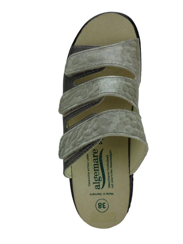 """Algemare Damen Pantolette """"Titanium Kroko"""" Absatzschuh mit Algen-Kork Wechselfußbett Made in Germany 1239_9326 – Bild 3"""