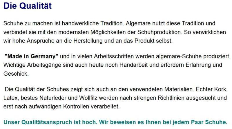 Algemare Damen Pantolette Nappa Leder Keilpantolette mit Algen-Kork Wechselfußbett Made in Germany 1246_0101 – Bild 9