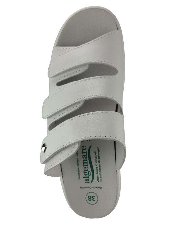 """Algemare Damen Pantolette """"Blanco"""" Nappa Leder mit Algen-Kork Wechselfußbett Made in Germany 1246_1127 – Bild 3"""