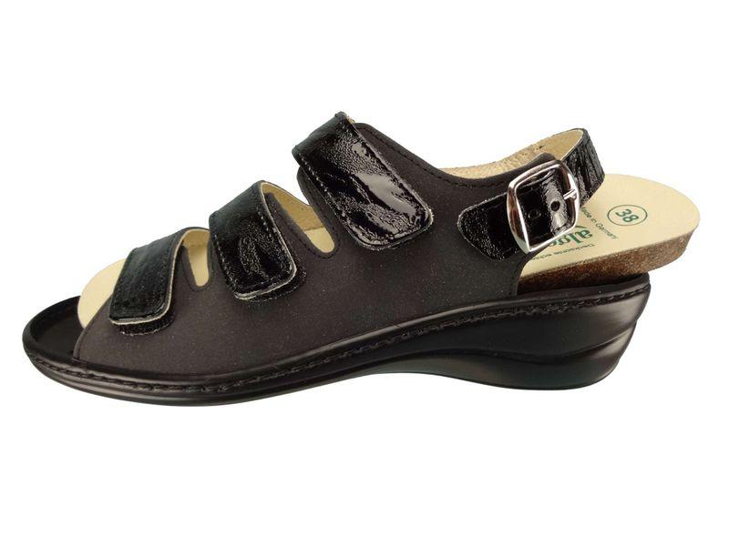 Algemare Damen Sandalette Nubuk Rigato Keilpantolette mit Algen-Kork Wechselfußbett Made in Germany 2317_0307 Sandale Fußbettsandale – Bild 2