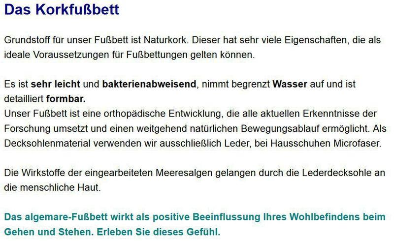 Algemare Damen Sandalette Blei Kroko Keilpantolette mit Algen-Kork Wechselfußbett Made in Germany 2317_2714 – Bild 4