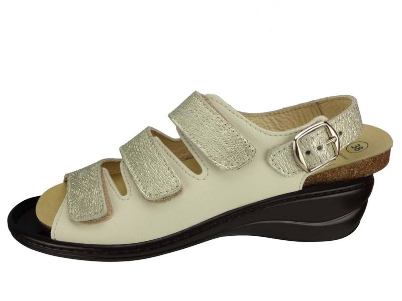 "Algemare Damen Sandalette ""Nappino Perla"" Keilsandalette mit Algen-Kork Wechselfußbett Made in Germany 2317_3884 – Bild 2"