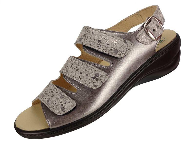 Algemare Damen Sandalette Keilpantolette mit Algen-Kork Wechselfußbett Made in Germany 2317_9926 Fußbett Sandalette Pantolette Sommerschuh – Bild 1