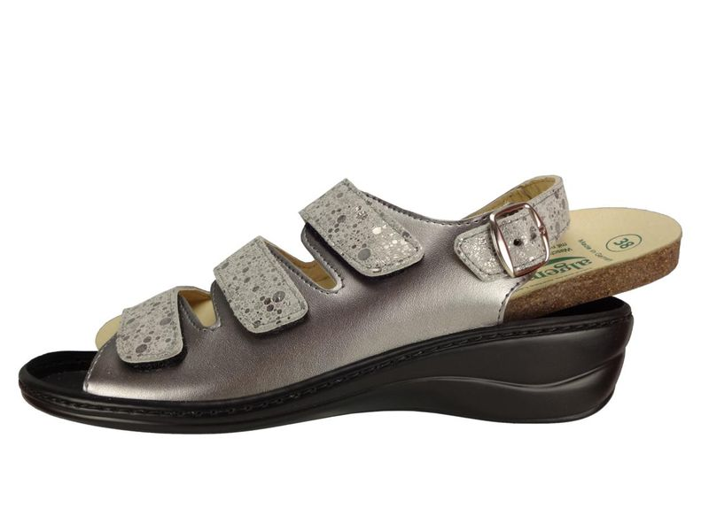 Algemare Damen Sandalette Keilpantolette mit Algen-Kork Wechselfußbett Made in Germany 2317_9926 Fußbett Sandalette Pantolette Sommerschuh – Bild 2