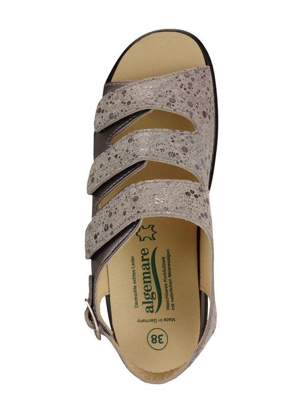 Algemare Damen Sandalette Keilpantolette mit Algen-Kork Wechselfußbett Made in Germany 2317_9926 Fußbett Sandalette Pantolette Sommerschuh – Bild 3