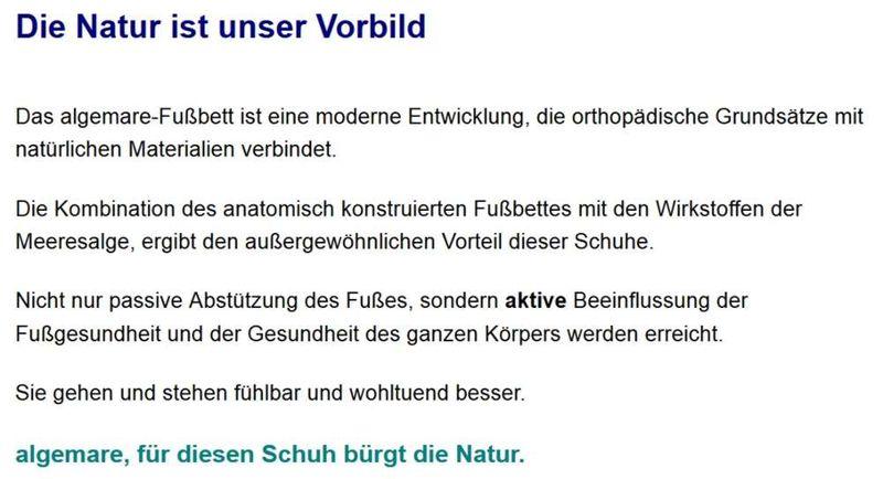 Algemare Damen Sandalette Fußbettsandale Keilpantolette mit Algen-Kork Wechselfußbett Made in Germany 2576_2418 eleganter Freizeitschuh – Bild 7