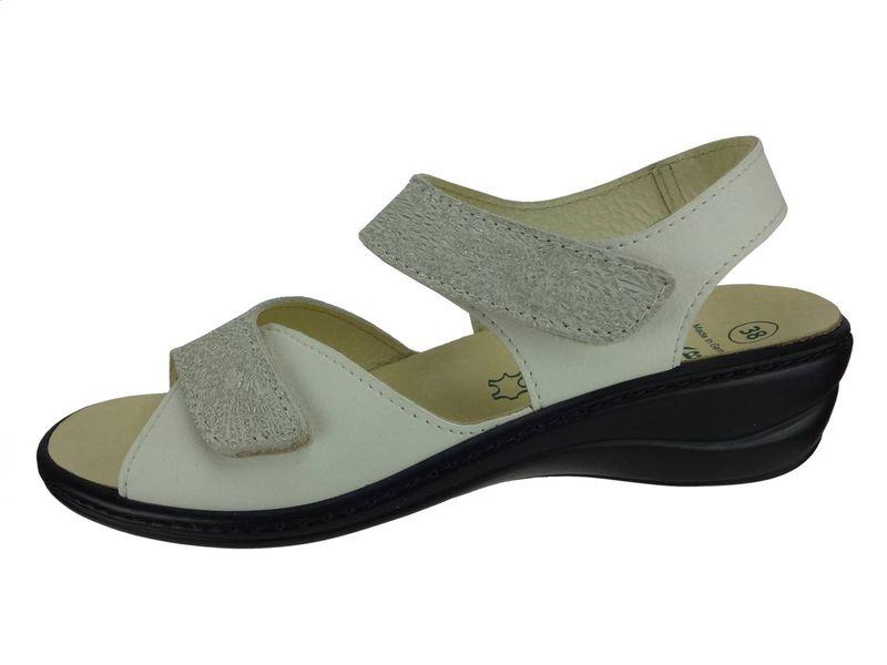 Algemare Damen Sandalette Nappino Oro Keilpantolette mit Algen-Kork Wechselfußbett Made in Germany 2576_3884 eleganter Freizeitschuh – Bild 2