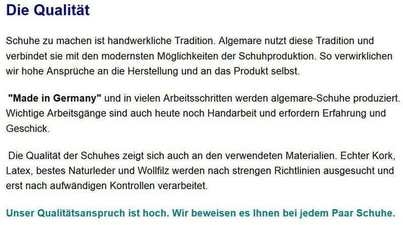 """Algemare Damen Leder Pantolette """"Nubuk Glitter"""" mit Sani-Pur Wechselfußbett Made in Germany 3416_0406 – Bild 5"""