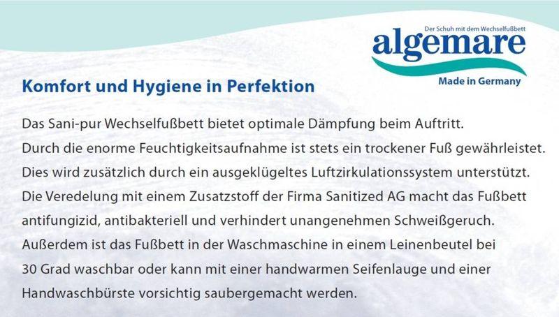 Algemare Damen Pantolette mit waschbarem Sani-Pur Wechselfußbett Made in Germany 34312_0696 eleganter Freizeitschuh – Bild 4