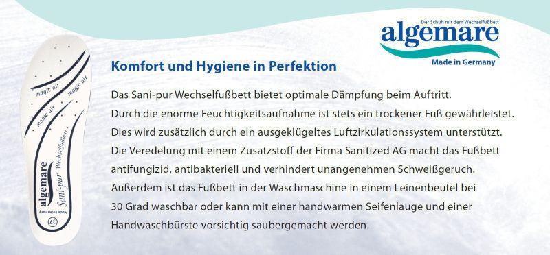 """Algemare Damen Zehentrenner Pantolette """"Smoke Nappino"""" mit Sani-Pur Wechselfußbett Made in Germany 3491_9943 – Bild 4"""