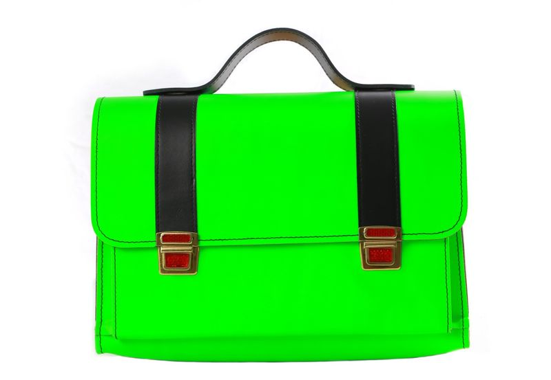 "Messenger Bag ""Tornister"" LYN by Lederstore NEON Edition Echtleder Handarbeit Deutschland Business Bag – Bild 3"