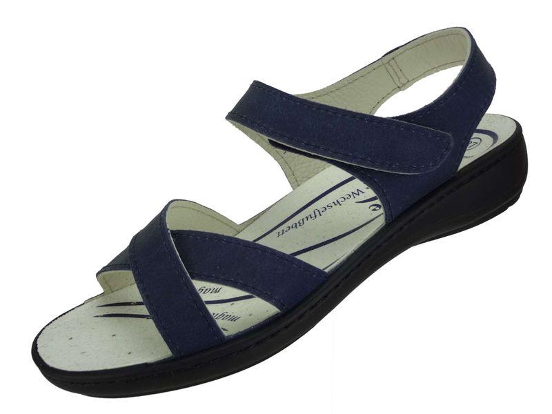 """Algemare Damen Leder Sandalette """"Ozean Nubuk"""" mit Sani-Pur Wechselfußbett Made in Germany 3512_8788 – Bild 1"""