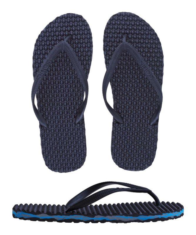 "SOULS Australian Thongs Zehentrenner Unisex Original Massage Noppen Sohle ""Blue Camo"" Sandale Wellness Badeschuhe – Bild 1"