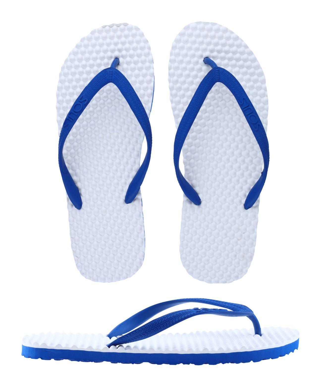"SOULS Australian Thongs Zehentrenner Unisex Original Massage Noppen Sohle ""Holiday Blue"" Sandale Wellness Badeschuhe"