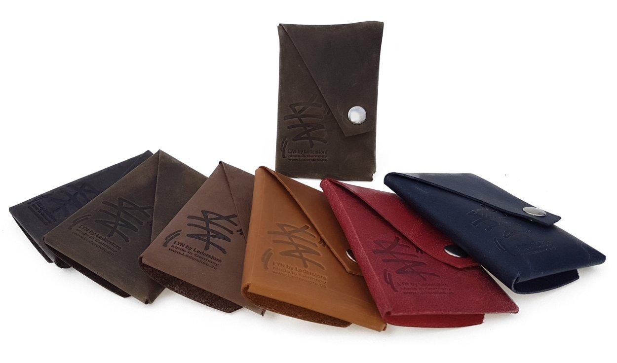 Mini Falt Geldbeutel LYN by Lederstore Echtleder Geldbörse fein gearbtes weiches Leder Vintage Look Wallet Portemonnaie