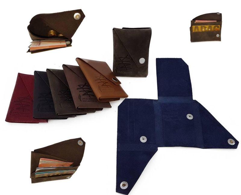 Mini Falt Geldbeutel LYN by Lederstore Echtleder Geldbörse fein gearbtes weiches Leder Vintage Look Wallet Portemonnaie – Bild 5