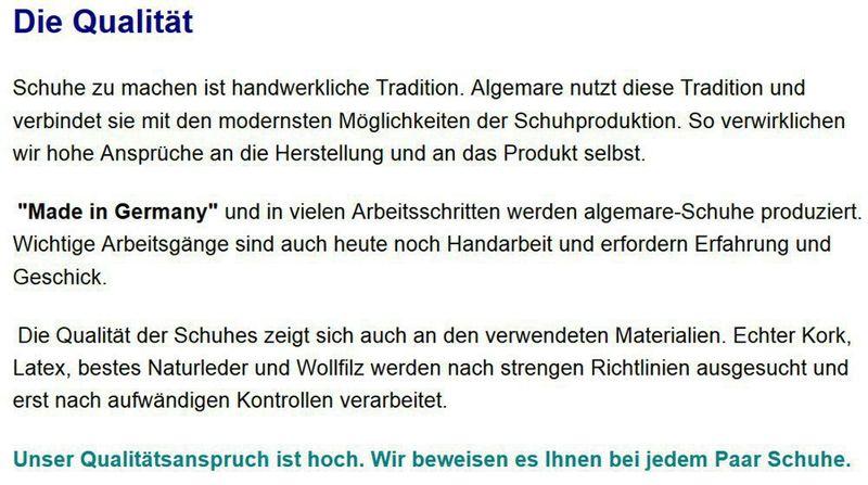"""Algemare Damen Leder Pantolette """"Kroko Chianti"""" Keilpantolette mit 2x Wechselfußbett Algen-Kork und Noppenersatzfußbett Made in Germany 5465_5117 – Bild 8"""