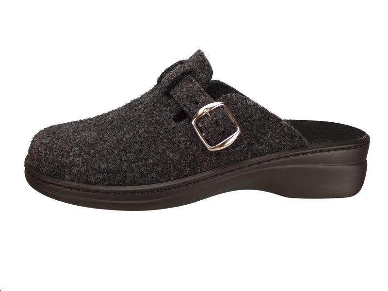 Algemare Damen Clog Hausschuh aus Filz mit waschbarem Sani-pur Wechselfußbett Pantolette 5932_2323 Sandalette  – Bild 2