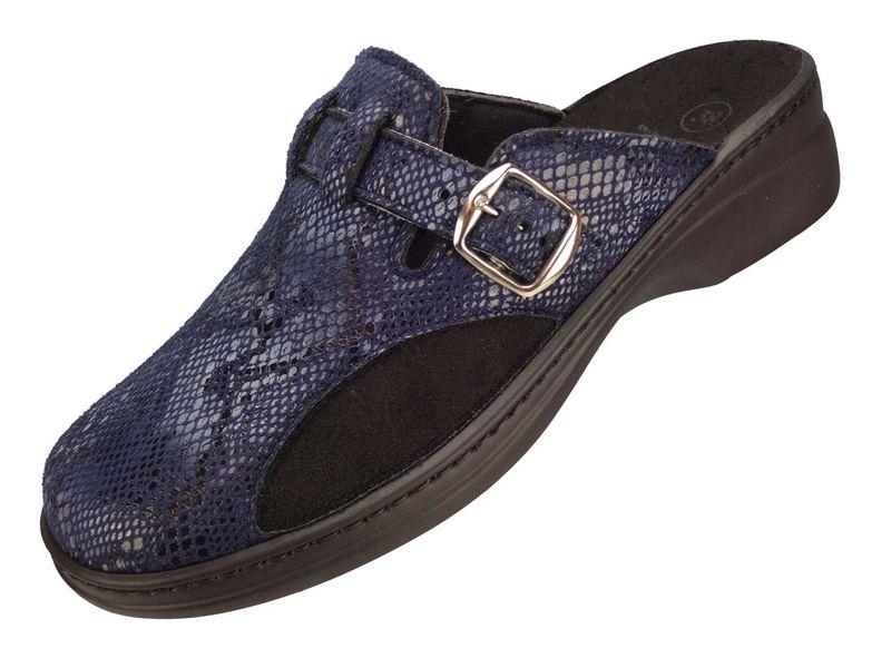 Algemare Damen Clog Hausschuh aus Synthetik mit waschbarem Sani-pur Wechselfußbett Pantolette 5939_8461 Sandalette  – Bild 1