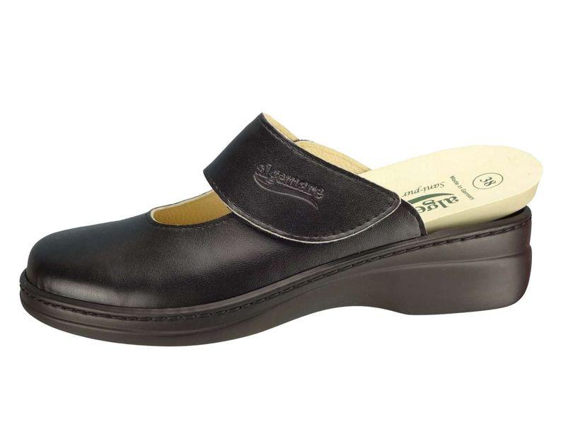 Algemare Damen Clog Hausschuh aus Nappino mit waschbarem Sani-pur Wechselfußbett Pantolette 59482_0404 Sandalette  – Bild 2