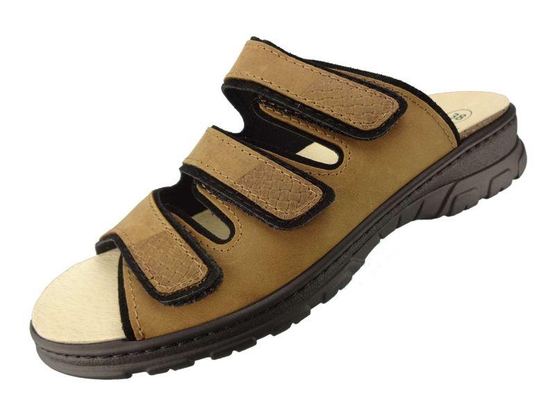Algemare Pantolette Sandalette Nuss Nubuk waschbares Algenkork Wechsel-Fußbett Serrapielfutter  6238_0848 – Bild 1