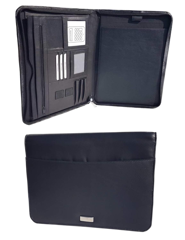 Schreibmappe DIN A4 weiches Leder Dokumentenmappe Verkaufsmappe Präsentationsmappe Verkaufsmappe Konferenzmappe Business