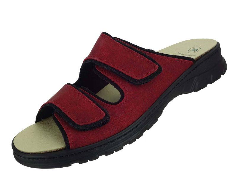 Algemare Pantolette Sandalette Nubuk Red waschbares Algenkork Wechsel-Fußbett Serrapielfutter  6446_0857 – Bild 1