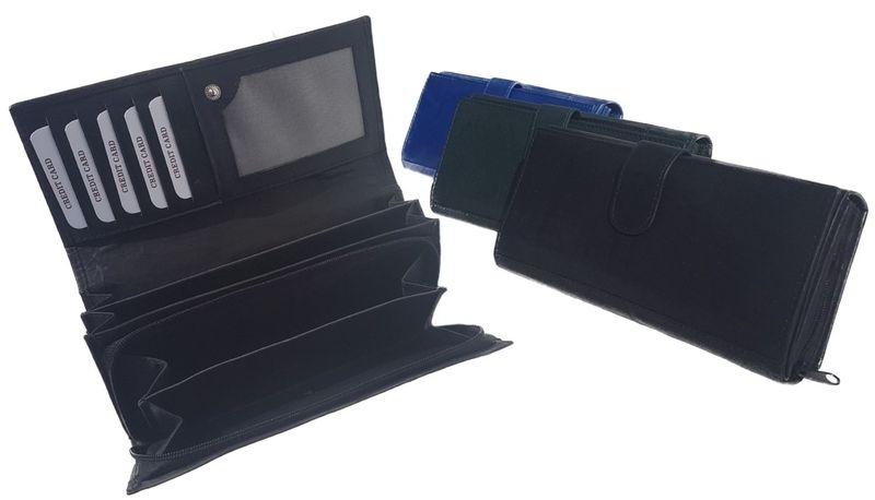 Exclusive Geldbörse Geldbeutel Portemonnaie lang Damen Clutch Echtleder groß Brieftasche  – Bild 1