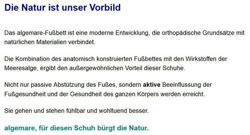 Algemare Pantolette Nubuk Algen-Kork Wechselfußbett Herstellung in Deutschland 7388_4178 – Bild 6