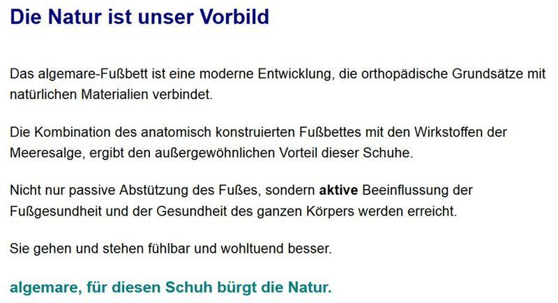 """Algemare Herren Pantolette Nubuk """"Sansibar"""" waschbares Algen-Kork Wechselfußbett 7510_3261 Made in Germany – Bild 5"""
