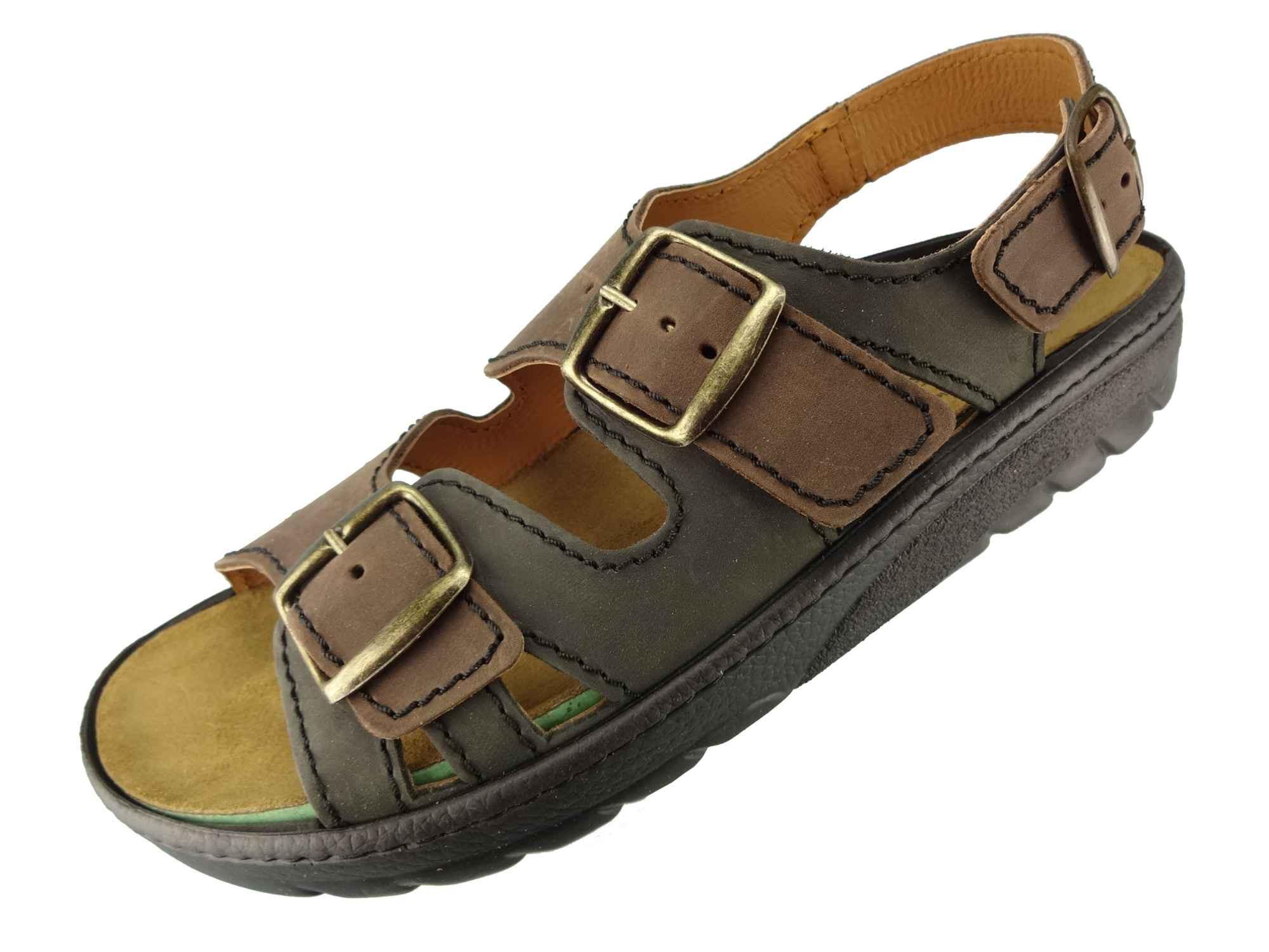 Algemare Sandalette Algen Kork waschbares Wechselfußbett Nubuk Herstellung in Deutschland 7691_4131 Sandale | Lederstore