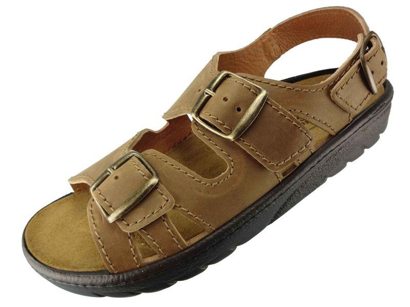 Algemare Sandalette Nuss Nubuk Algen-Kork Wechselfußbett Herstellung in Deutschland 7691_4825 Herren Sandale – Bild 1