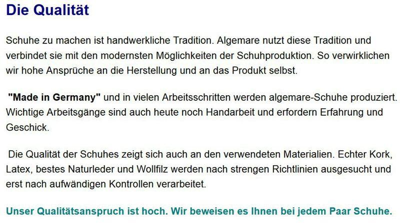 Algemare Damen Pantolette Nappino Nubuk Keilpantolette mit Sani-pur Wechselfußbett Made in Germany 14462_0696 Freizeitschuhe – Bild 5