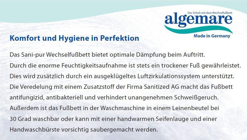 Algemare Herren Clog Veluret Sani-pur Wechselfußbett Herstellung in Deutschland 79902_2188 Hausschuh Pantoffel – Bild 4