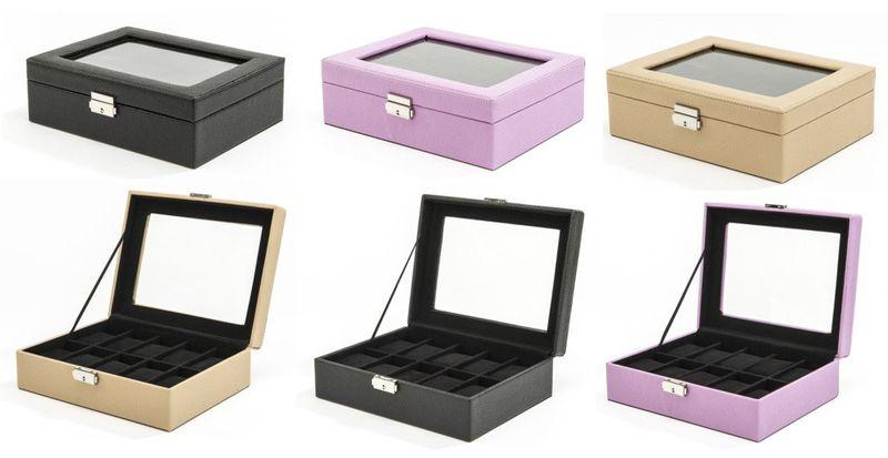 AMBASSADOR 10er Uhrenbox Uhrenkoffer sehr weiches Lederimitat klassisch edle Prägung  – Bild 1