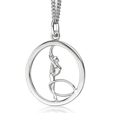 My-Beads RSG Silberanhänger »Gymnastin mit Reifen«