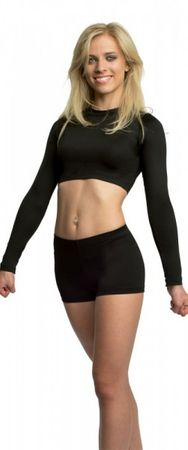BASIC Crop Top (Meryl® N-Air) schwarz – Bild 2