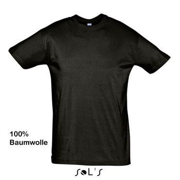 schwarzes Baumwoll-T-Shirt Jungen (2-12) und Herren (XS-3XL)
